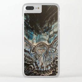 Shadow Owl - Bringer of Night Clear iPhone Case