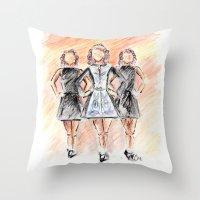 irish Throw Pillows featuring Irish Dancers by Tina Mooney