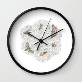 Cow Parsnip Wall Clock