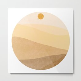 Abstract desert landscape  Metal Print