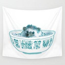Hedgehog Hot Tub #2 Wall Tapestry