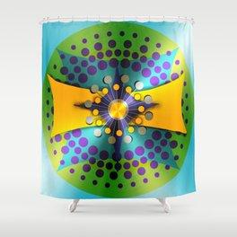 Shiny Atomic Object D'Art Shower Curtain