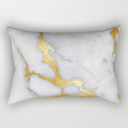 Italian gold marble II Rectangular Pillow