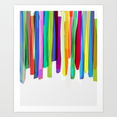 Colorful Stripes 2 Art Print