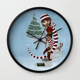 Santas Little Helper Wall Clock