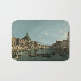 A View of the Grand Canal by Canaletto Bath Mat