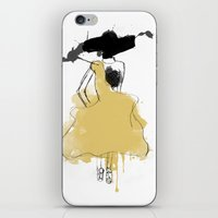steve mcqueen iPhone & iPod Skins featuring McQueen by Linda Leitner