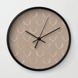 Caramel blush reindeer Wall Clock