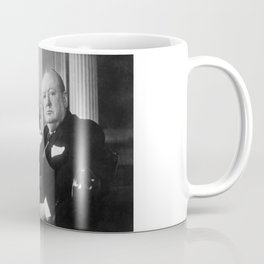 Winston Churchill at Number 10 Downing Street Coffee Mug