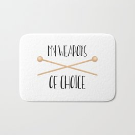 My Weapons Of Choice  |  Knitting Needles Bath Mat