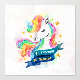 Be Unicorn Canvas Print