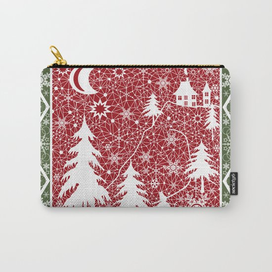 Winter. Christmas.  Carry-All Pouch