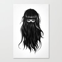 france Canvas Prints featuring It Girl by Ruben Ireland