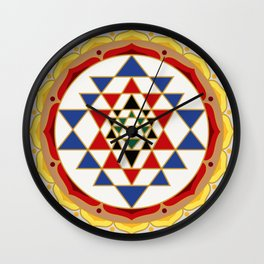 Sri Yantra colored Wall Clock