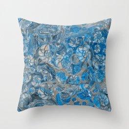 Sea shells pattern marble beach Throw Pillow