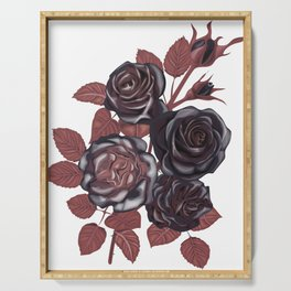 Gothic Roses. Vintage roses Serving Tray