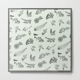 Wildflowers (Mint) Metal Print