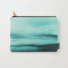 Mint-Green Ocean Vibes #1 #decor #art #society6 Carry-All Pouch