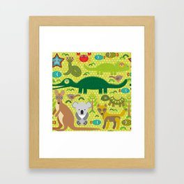 Animals Australia snake, turtle, crocodile, alliagtor, kangaroo, dingo Framed Art Print