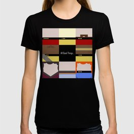 All Good Things - square Minimalist Star Trek TNG The Next Generation 1701 D  startrek  Trektangles T-shirt
