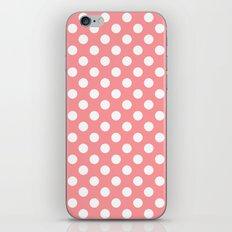 Coral Cream Peach Polka Dot Pattern iPhone & iPod Skin