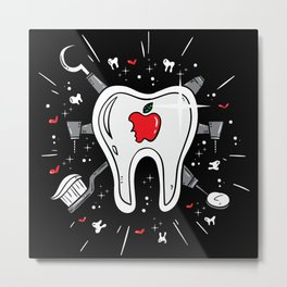 Molar Imagery | Dentistry Metal Print