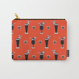 Tropical Cocktails Glass Seamless Vector Pattern, Drawn Bar Carry-All Pouch