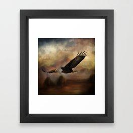 Eagle Flying Free Framed Art Print