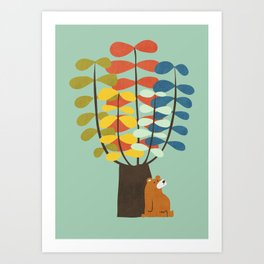 Shady Tree Art Print