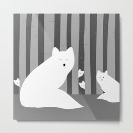 White foxes Metal Print