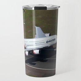 Qantas Airbus A380 departing Sydney Travel Mug