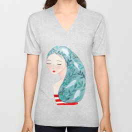 She loves the sea Unisex V-Neck