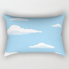 Cloudscape - Blue Rectangular Pillow