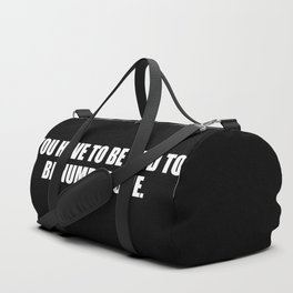 you need to be odd to be number one funny quote Duffle Bag