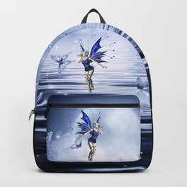 Blue Fairy and Butterflies Backpack