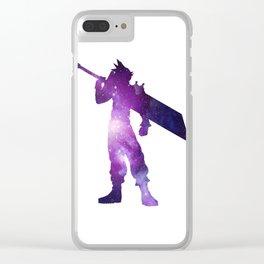 Purple Space Cloud Strife Clear iPhone Case