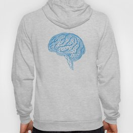 blue human brain Hoody