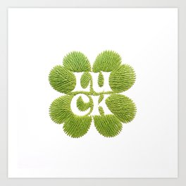 luck: embroidery on paper print Art Print