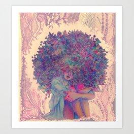 mind flowers Art Print