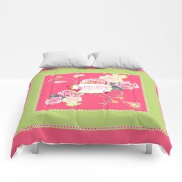 Princess Happily Ever After Modern Birds Floral  Comforters