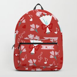 Valentine's Day Love and Bouquets Backpack