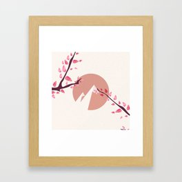 Mount Fuji Japan Sakura Tree Cherry Blossom Framed Art Print