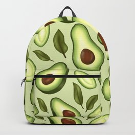 Avocado Illustration Pattern Backpack