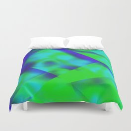 Green Color Package Duvet Cover