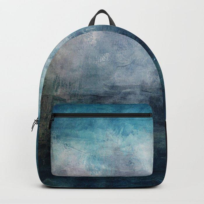 Beach in Blue Backpack