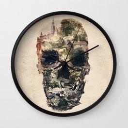 Skull Town Wall Clock