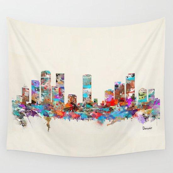 Denver Colorado skyline Wall Tapestry