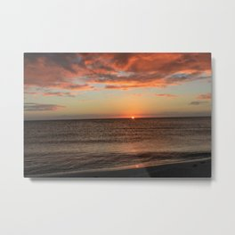 Somber Sunset Metal Print