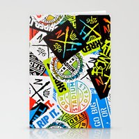 sticker Stationery Cards featuring Sticker Collage by Chris Klemens