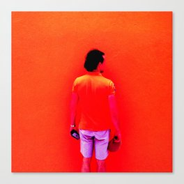 Santos Orange Canvas Print